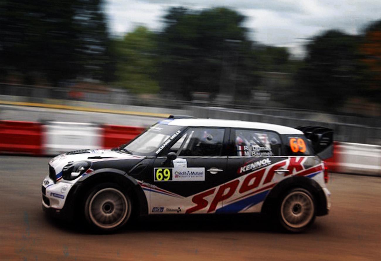 KENNOL FAST IN WRC IN FRANCE.