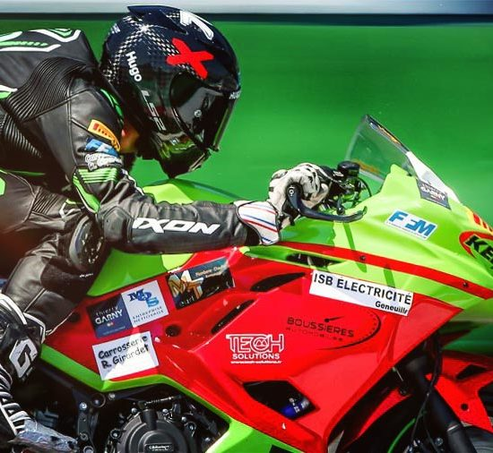KENNOL's sponsored Hugo GIRARDET is the first ever French Superbike Supersport 300 Champion!