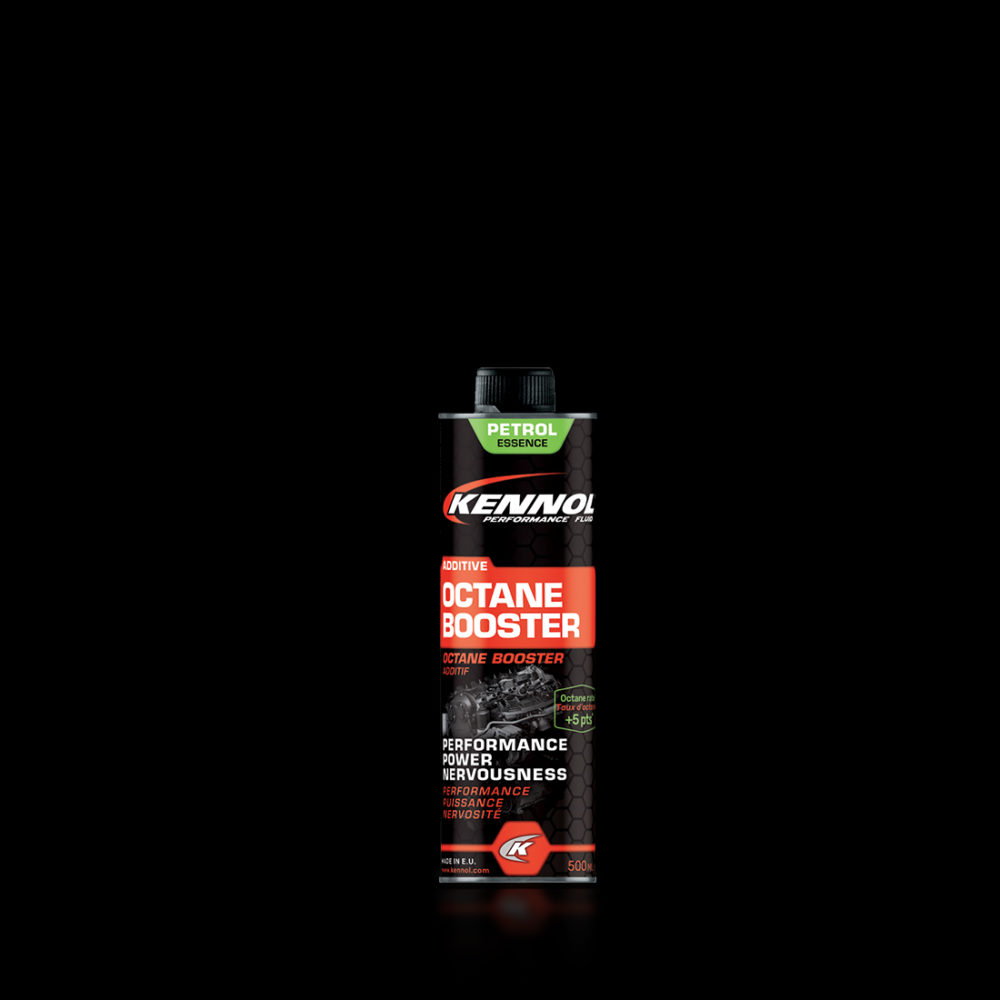 Packshot of octane booster additive.