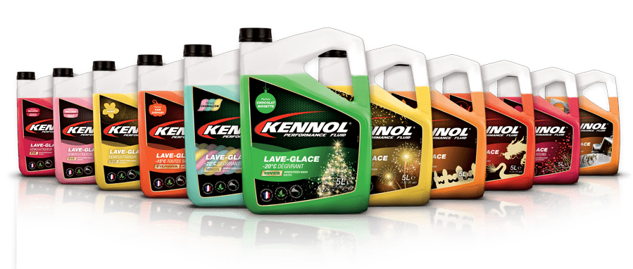 Unique range of incredible perfumes for our KENNOL windscreen washers