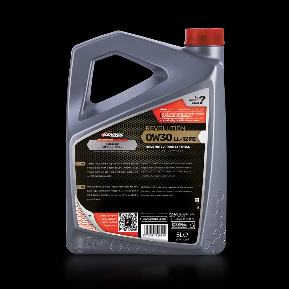 REVOLUTION LL 12FE 0W30   KENNOL - Performance Oil