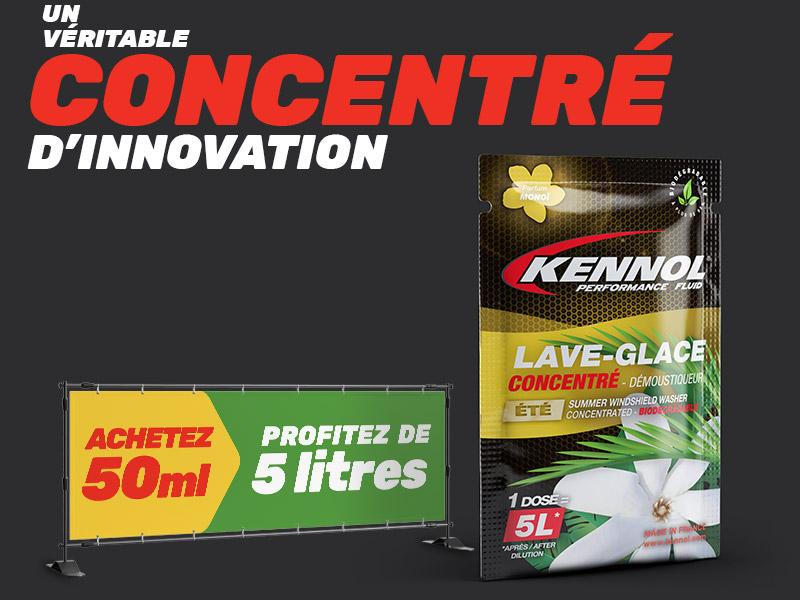 Recharge de concentré de lave-glace KENNOL été démoustiqueur parfum monoï.
